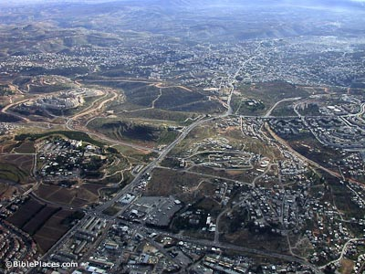 Bethlehem-aerial-from-north,-df010703222-bibleplaces