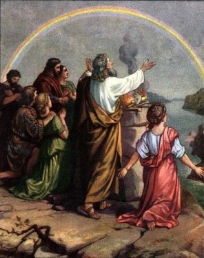 Noe y arco iris