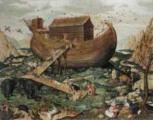 Arca-de-Noé-en-el-monte-Ararat