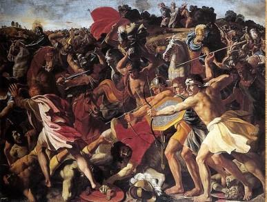 Josue contra los Amalecitas, de Nicolas Poussin (1200x990)