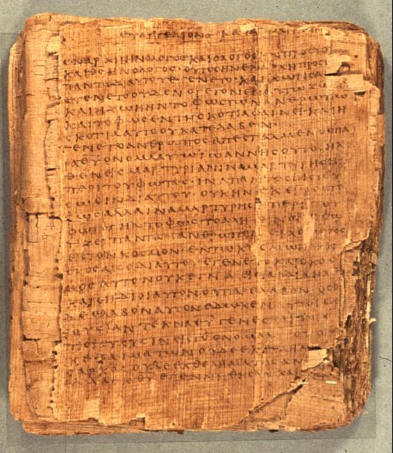Principales testigos textuales del evangelio de Juan: papiros y ...