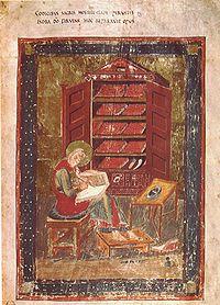 Miniatura del Codex Amiantinus, de tipo bizantino.