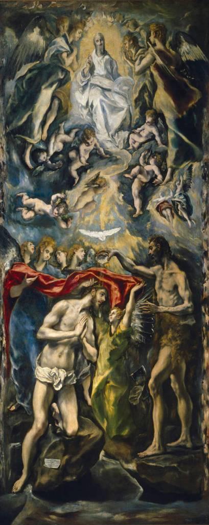 El Bautismo de Cristo, Greco