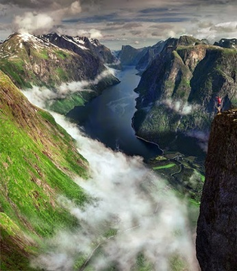 Clouds Highway - Dream View of Fjord, Norway by Max Rive