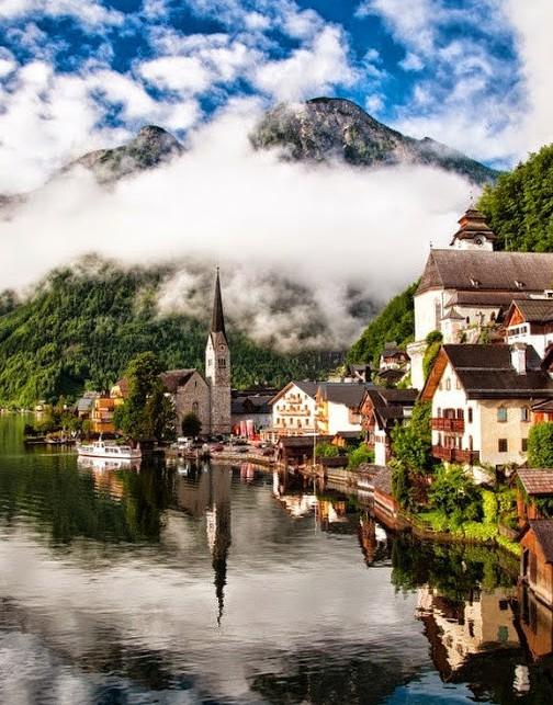 The Village of Hallstatt, Salzkammergut - Austria