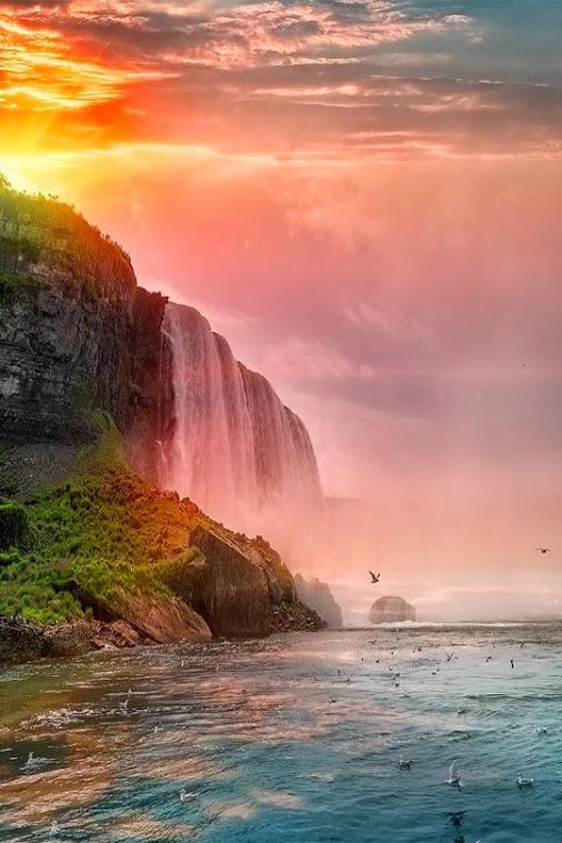 Sunset at Niagara Falls - Canada by Matteo Pecchioli