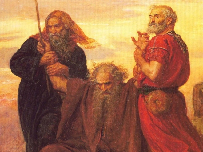 moses-aaron-and-hur-in-battle