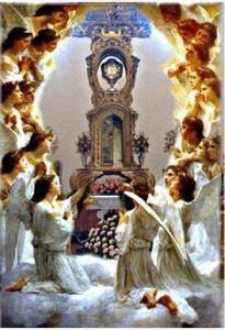 angeles y eucaristia