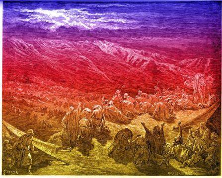 pueblo por el desierto exodo
