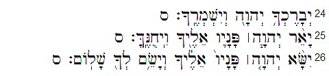 bendicion sacerdotal Nm 6, 25-27